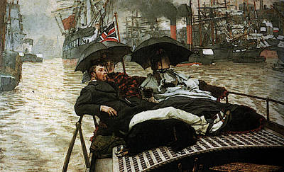 Digital Art - The Thames by James Jacques Joseph Tissot