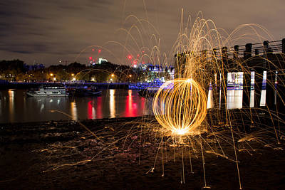 Photograph - The Thames Orb by Andrew Lalchan