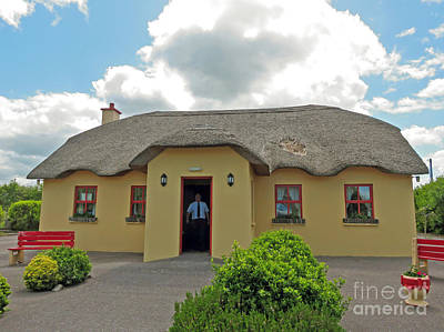 Photograph - The Thatch Cottage Cahersiveen Ireland by Cindy Murphy - NightVisions