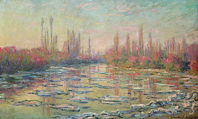 Thawing Painting - The Thaw On The Seine by Claude Monet