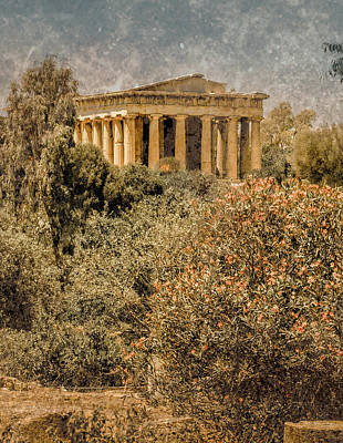 Photograph - Athens, Greece - The Theseion by Mark Forte
