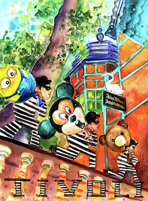Painting - The Thieves Of Tivoli Gardens by Miki De Goodaboom