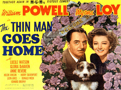Loy Photograph - The Thin Man Goes Home, William Powell by Everett