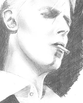 David Bowie Drawing - The Thin White Duke by Catriona Palin