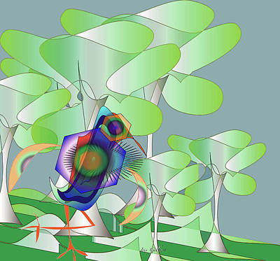 Digital Art - The Things That You See When Going Out For A Walk by Iris Gelbart