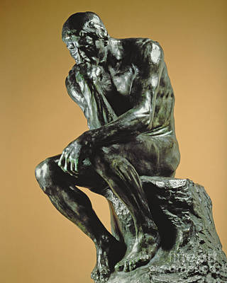 Mental Sculpture - The Thinker by Auguste Rodin