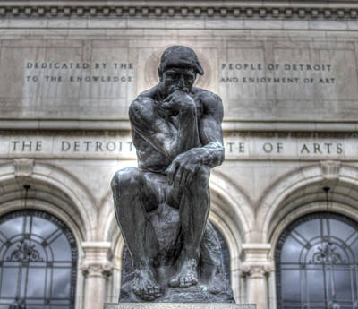 Detroit Tigers Art Photograph - The Thinker by Chris Coleman