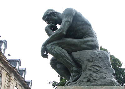 Photograph - The Thinker Profile by T Guy Spencer