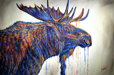 Painting - The Thinker by Teshia Art