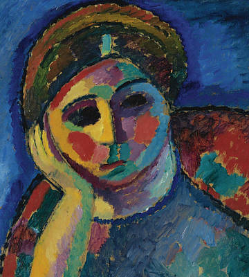 Painting - The Thinking Woman by Alexej von Jawlensky