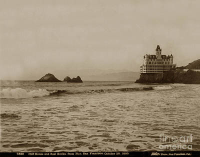 Photograph - The  Third Cliff House And Seal Rocks From Pier, San Francisco,  Circa 1895 by California Views Archives Mr Pat Hathaway Archives