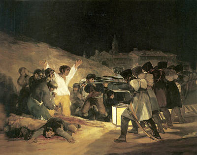 White Shirt Painting - The Third Of May by Francisco de Goya