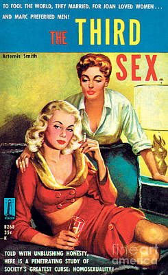 Print featuring the painting The Third Sex by Robert Stanley