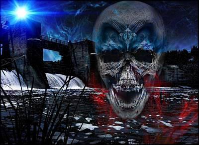 Skull Photograph - The Thirteenth Dam by Daniel Arrhakis