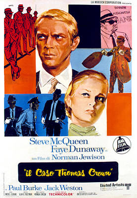Postv Photograph - The Thomas Crown Affair, Italian Poster by Everett
