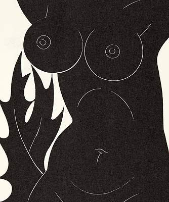 Nipple Drawing - The Thorn In The Flesh by Eric Gill
