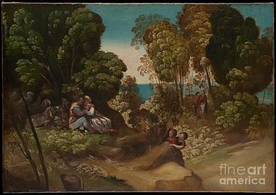 Men Painting - The Three Ages Of Man Artist Dosso Dossi by Celestial Images