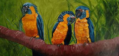 Painting - The Three Amigos by Joan Mansson