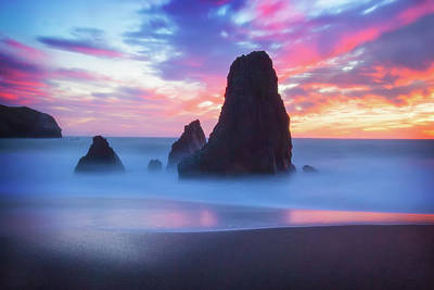 Three Amigos Photograph - The Three  Amigos - Rodeo Beach Sunset #5 by Jennifer Rondinelli Reilly - Fine Art Photography
