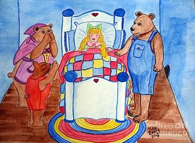 The Three Bears And Goldilocks Art Print by Julie Brugh Riffey
