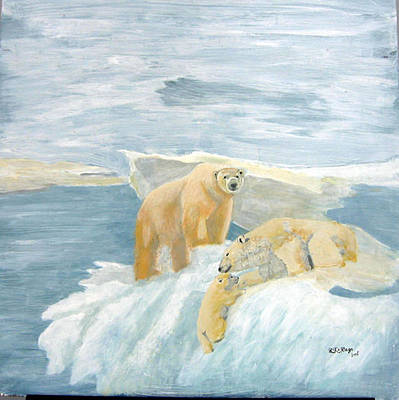 Painting - The Three Bears by Richard Le Page