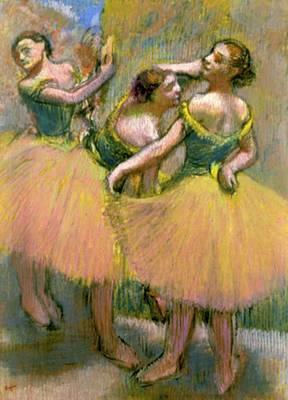 The Three Dancers Art Print by Edgar Degas
