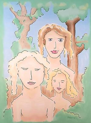 Wall Art - Painting - The Three Fates by Dave Martsolf