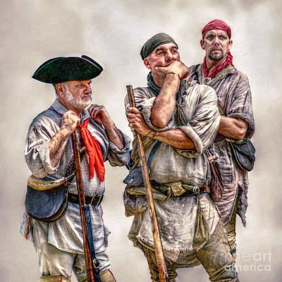 Historical Digital Art - The Three Frontiersmen  by Randy Steele