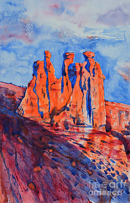 Painting - The Three Gossips by Zaira Dzhaubaeva