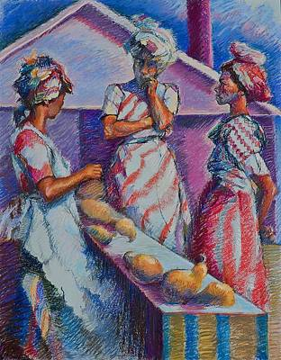 Guatemala Painting - The Three Graces by Ellen Dreibelbis