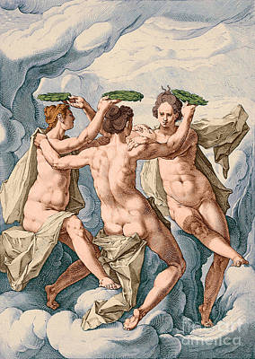 The Three Graces Art Print by Los Angeles County Museum