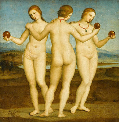 Painting - The Three Graces  by Raphael