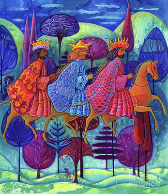 Balthasar Painting - The Three Kings Christmas by Jane Tattersfield