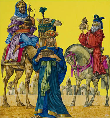 Three Kings Painting - The Three Kings by Richard Hook