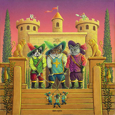Painting - The Three Kool-kateers by Don Roth