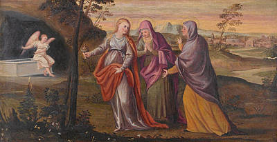 Painting - The Three Marys At The Sepulchre by Antonio Palma