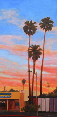 Painting - The Three Palms by Andrew Danielsen