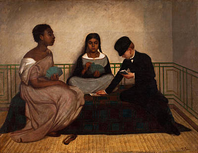 Before The Races Painting - The Three Races Or Equality Before The Law by Francisco Laso