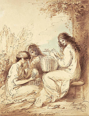 Benjamin Drawing - The Three Sisters  by Benjamin West