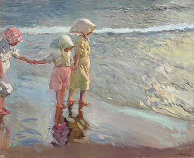 The Three Sisters On The Beach Art Print