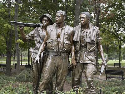 Realist Photograph - The Three Soldiers By Frederick Hart by Everett