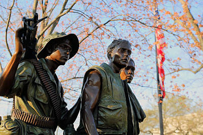 Photograph - The Three Soldiers by Mitch Cat