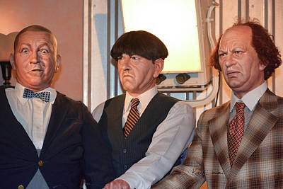 Three Stooges Photograph - The Three Stooges 2 by Karen Dobyns
