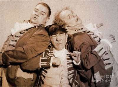 Musician Royalty-Free and Rights-Managed Images - The Three Stooges by Mary Bassett