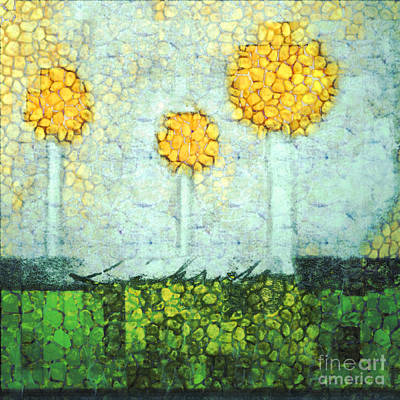 Digital Art - The Three Trees - Y2901b by Variance Collections