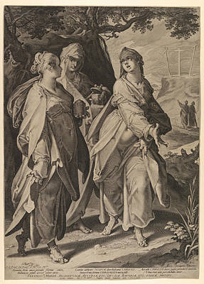 Drawing - The Three Women Returning From The Tomb by Aegidius Sadeler
