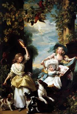 Painting - The Three Youngest Daughters Of George IIi 1785 by Copley John Singleton
