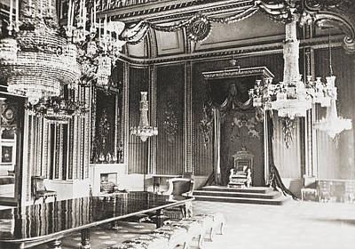Buckingham Palace Drawing - The Throne Room, Buckingham Palace by Vintage Design Pics