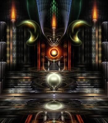 Digital Art - The Throne Room by Xzendor7