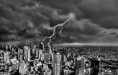 Photograph - The Thunder Rolls B/w by Michael Damiani